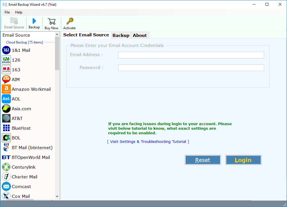 select email application